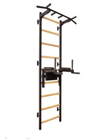 Drabinka gimnastyczna z drewnianymi szczebelkami, drążkiem i poręczami 312B BenchK 240 x 67 cm