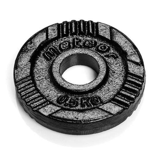 Obciążenie żeliwne Meteor czarne (28 mm) 0,5kg