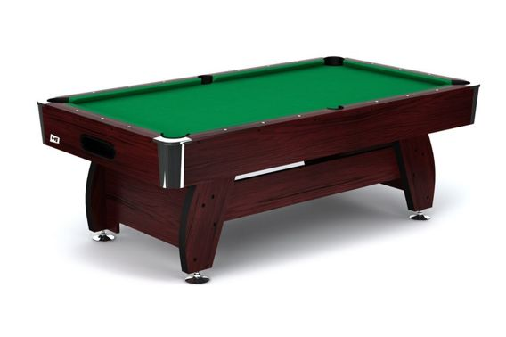 Stół bilardowy spływowy VIP Extra 7 ft wiśniowo - zielony Spensers