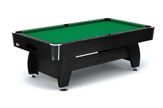 Stół bilardowy spływowy Vip Extra 7ft czarno - zielony Spensers