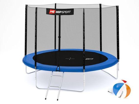 Trampolina ogrodowa 10ft (305cm) z siatką ochronną zewnętrzną Hop-Sport - 3 nogi